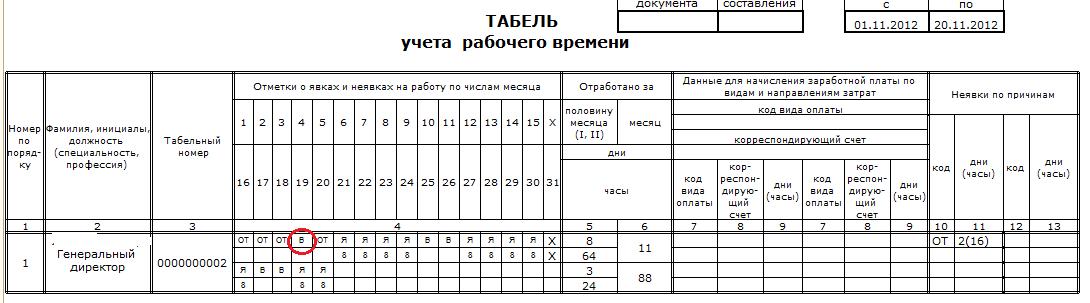 Константин Крюков отражение в табеле выходных во время отпуска кайда, кемн?р